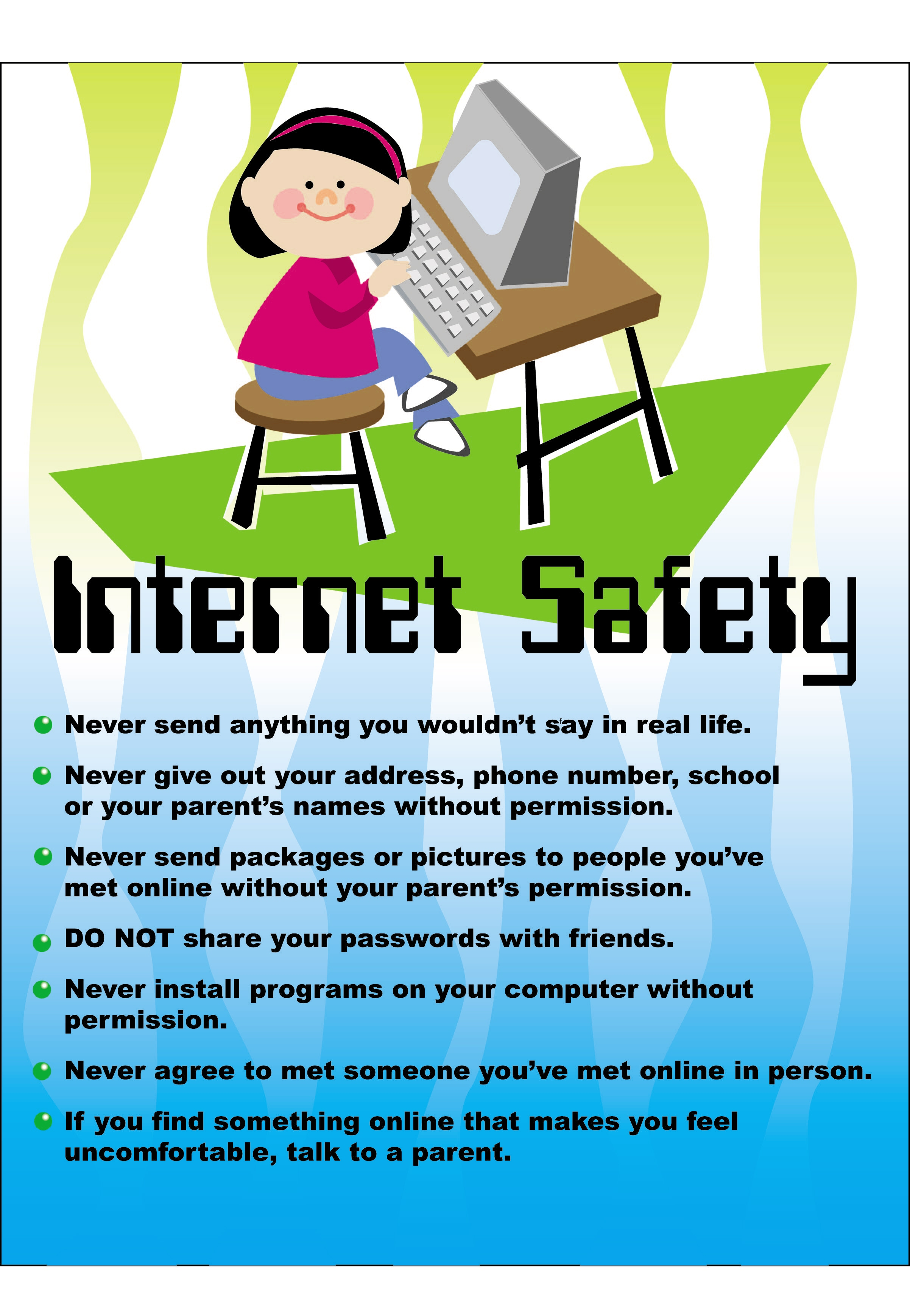 E safety poster designs - Internet Safety Poster