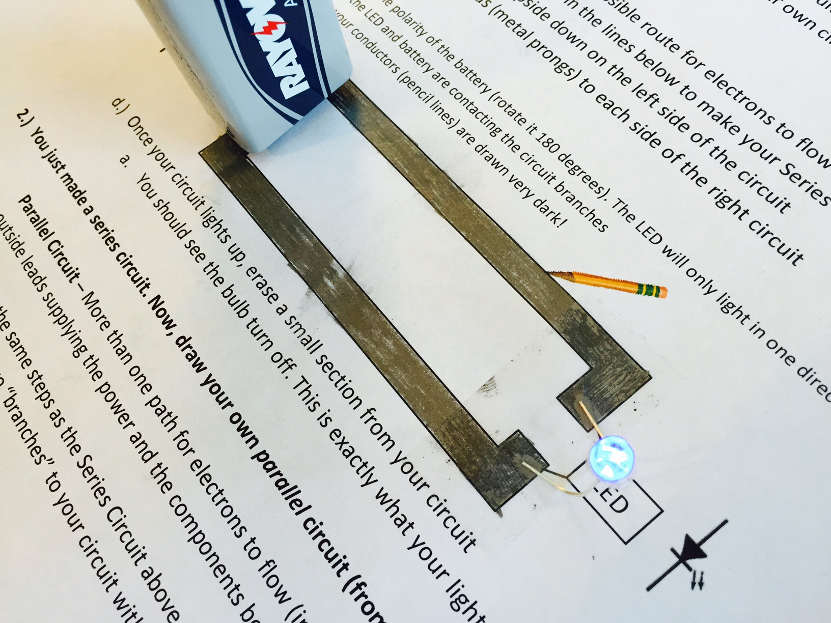 Pencil Circuits Andrew Kaufmans Blog How Do You Make A Parallel Circuit 2