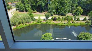 bioretention pond at SAS