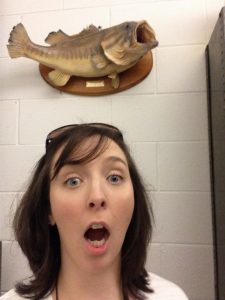 Lia and a fish
