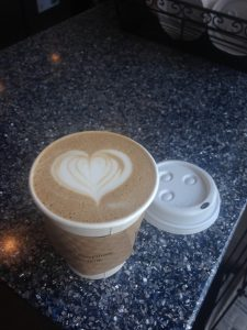 Sometimes you don't even know you need a pick-me-up until someone makes you a mocha with a heart on top!